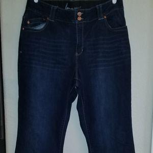Size 18 Lane Bryant blue jeans